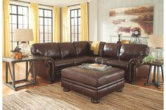 Banner - Coffee 3 Pc RAF Sofa Sectional by Signature Design by Ashley. Get your Banner - Coffee 3 Pc RAF Sofa Sectional at Furniture Outlet Bedford Park, Bedford Park IL furniture store. Small Sectional, Sectional Sofa With Recliner, 3 Piece Sectional, Recliners, Furniture Outlet, Discount Furniture, Living Room Sets, Living Room Furniture, Suburban Furniture