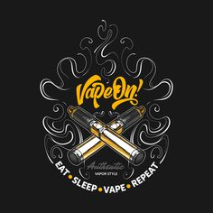 Shop Vape on! vape t-shirts designed by as well as other vape merchandise at TeePublic. Bong Shop, Vape Shop, Logo Sticker, Sticker Design, Vape Logo Design, Vape Wallpaper, Vape Facts, Smoke Logo, Hookah Pipes