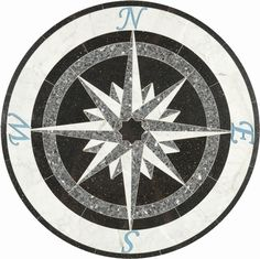 Same Day Ship, 36inch tile floor medallions, Marble tile Medallion, Stone tile floor medallion, Mosaic Flooring, Tile Borders, Waterjet cut Flooring - Waterjet Wonders, LTD