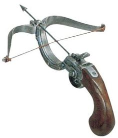 A 17th century pistol crossbow.