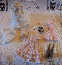 miniature clothes for a dollhouse family