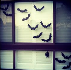 DIY Halloween window silhouettes - happy Halloween from the Honeycombers. *Totally making these*