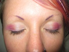 based on another look pink and purple look a saw with added mini brows