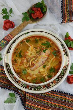 Ciorba de curcan - CAIETUL CU RETETE Jacque Pepin, Thai Red Curry, Soup Recipes, Cooking, Ethnic Recipes, Soups, Food, Party, Vegans