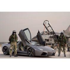 This is so Badass - #Lamborghini Reventon Topgun Style