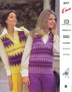PDF Womens Ladies Tank Top Knitting Pattern Summer Groovy Vest Hippie Chick, Hippie Boho, Knitting Patterns, Crochet Patterns, Hippie Festival, Vintage Knitting, Tank Dress, Hippy, Psychedelic