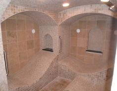 Steam room in a house