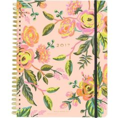 RIFLE PAPER 2017 Jardin de Paris spiral planner ($45) ❤ liked on Polyvore featuring home, home decor, stationery and filler
