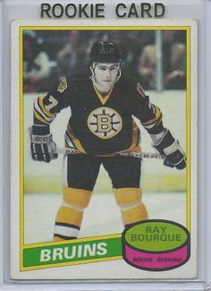 Ray Bourque Rookie Card 1980-81 OPC Boston Bruins   140 EX Bruins Hockey a5572a9c9