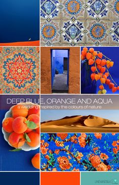 The orange against the blue is so rich. If I had to choose a different palette, it would be this one.