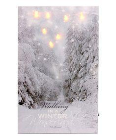 Love this Winter Wonderland Lit Wrapped Canvas on #zulily! #zulilyfinds