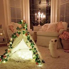 Sugar bunny loves his tent teepee. #tent #teepee #shabbychic #bunny #rabbit #sugar #bedroomdecor