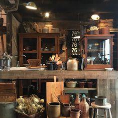 Japanese Restaurant Design, Japanese Garden Design, Japanese Interior, Kitchen Interior, Kitchen Design, Thai Cafe, Japanese Kitchen, Composition Design, Cafe Shop