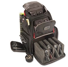 NRA Handgunner Backpack transports 4 pistols and plenty of range gear.