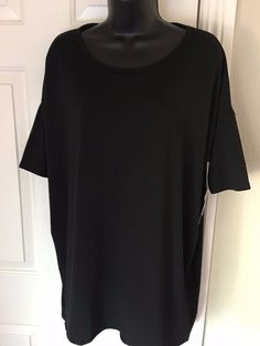 Lularoe Irma Top Solid Black Tunic Style Pullover Size Small Womens #Lularoe #Tunic #Casual