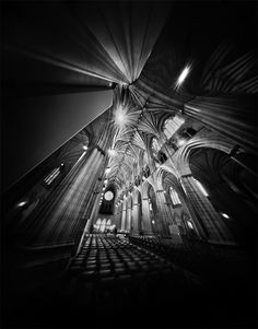 National Cathedral Nave from a Pinhole Camera. This is a view down the nave of National Cathedral in Washington, DC. Forty minutes on Fuji b/w film using a Zero Image pinhole camera at This photo shows a clear view down the nave. Photography Projects, Art Photography, Camera Photography, Amazing Photography, Pinhole Camera Photos, Cool Pictures, Cool Photos, Amazing Photos, Black N White Images