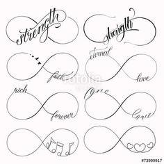 Vecteur : Infinity symbols set