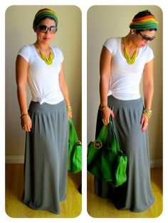 mimi g.: Search results for Maxi skirt pattern Fashion Sewing, Diy Fashion, Fashion Outfits, Classy Outfits, Cute Outfits, Diy Clothes, Clothes For Women, Do It Yourself Fashion, Cute Skirts