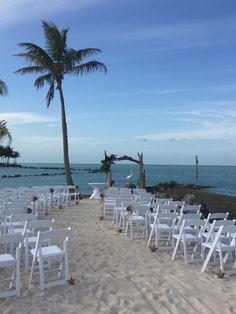 Walking down the aisle! #Sandy #TheJetty #WeddingArch #PalmTree #Starfish #Nautical #Tropical #Destination #Venue #Wedding #Ceremony