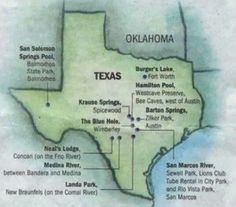 Some of the top swimming holes in Texas.