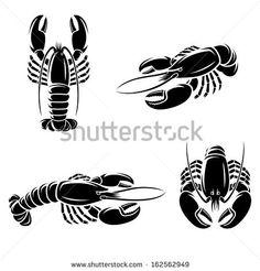 Lobster set. Vector - stock vector