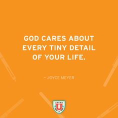 Wonderful reminder from Joyce Meyer of God's care for each one of us! #www.nycfitnessfamilyfinds.net