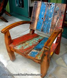 Furniture Made From Old Colorful Recycled Boats Re Purpose Invent Use Boat Reclaimed