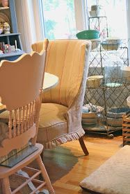 Custom Slipcovers By Shelley Slipcovered Host And Hostess Chairs