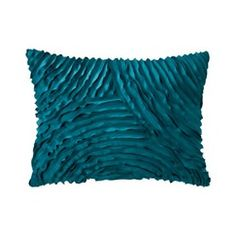 Xhilaration® Silk Allure Pleated Decorative Pillow - Teal pop of that turquoisy teal