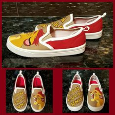 Lion guard custom shoes for the birthday boy are all done! #lionguard #bdayboy #dazzlingpartydecor