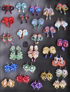 Ribbon Jewelry, Diy Jewelry, Jewelery, Jewelry Accessories, Hijab Pins, Soutache Necklace, Shibori, Beaded Embroidery, Diy And Crafts