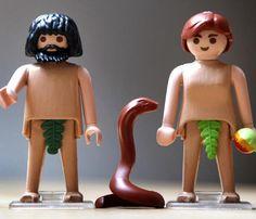 Playmobil Adam et Eve Constellations, Adam Et Eve, Playmobil Toys, Doll Toys, Dolls, Play Mobile, Lego People, Toy Display, Famous Artwork