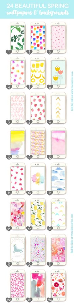 24 Beautiful Wallpapers & Backgrounds for your iPhone or Android... lots of flowers and watercolors. Perfect for SPRING! #spring #iPhone #wallpaper #background
