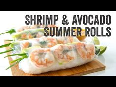 Shrimp and Avocado Summer Rolls Recipe : Season Ep. 3 – Chef Julie Yoon Practical recipes video recipe – The Most Practical and Easy Recipes Shrimp Spring Rolls, Chicken Spring Rolls, Fresh Spring Rolls, Summer Rolls, Shrimp Rolls, Healthy Crisps, Healthy Food, Cooking Recipes, Vegetarian Cooking