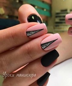 Diy Nails, Cute Nails, Elegant Nail Art, Simple Elegant Nails, Wedding Nails Design, Nail Wedding, Black Wedding Nails, Nail Design, Lilac Wedding