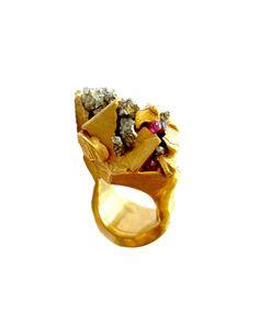 Imogen Belfield Jagged Gems Ring