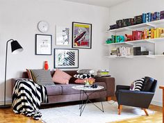 Swedish apartment with a mid-century touch