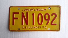Vintage 1970 Illinois License Plate by Salvageflags on Etsy