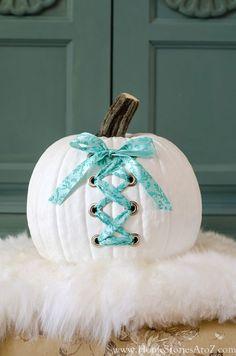 DIY corset pumpkin