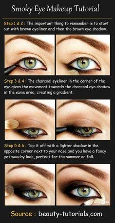 Smokey Eye Basics! Get that gorgeous smokey eye look by following this easy tutorial - wow!