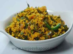 Split green gram cooked with tamarind leaves.