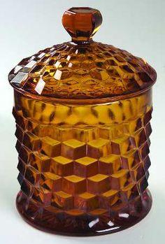American Amber (Mid Cookie Jar & Lid by Fostoria Fostoria Glassware, Vintage Glassware, Fostoria Crystal, Amber Crystal, Amber Glass, Glass Cookie Jars, Fostoria American, Glass Canisters, Carnival Glass