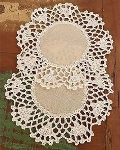 Vintage Doily, crochet lace and cotton doily, vintage lace, white round doily, crocheted doilies