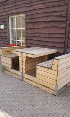 Recycled Old Pallets Benches  #Pallet_Upcycled #Pallet_Recycled #Pallet_Repurposed #Pallet_Reuses #pallet_ideas