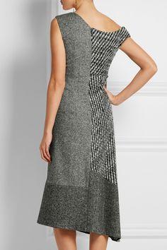 STELLA MCCARTNEY Jackie asymmetric paneled wool-tweed dress €1,395.00