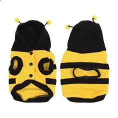 Winter Bee Style Cap Apparel Clothing Pet Cat Dog Hoodie Coat Yellow. More descripiton on the website.