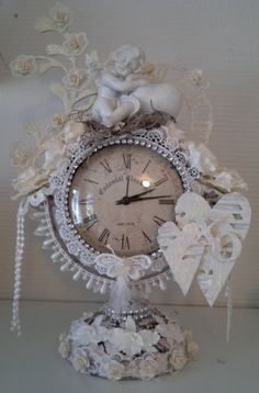 My altered shabby chic clock