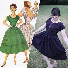 1954 Vintage Simplicity Dress – WeSewRetro.com