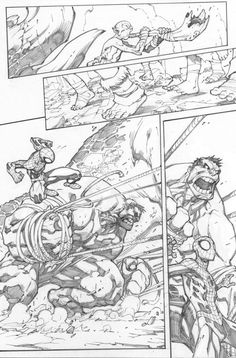avenging spider-man #2, page 9 - joe madureira pencils / love comparing the pencils to the final: