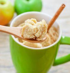 Skinny Apple Spice Mug Cake   Kirbie's Cravings   A San Diego food blog